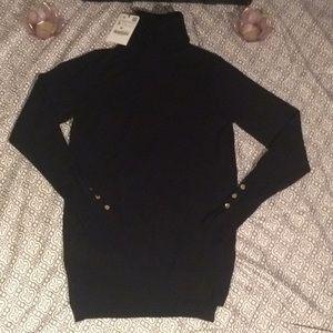 Black Zara long sleeve turtle neck
